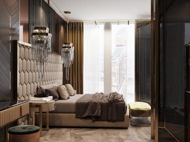 Bedroom in Moscov City. Tower Niva