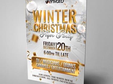Flyer christmas white