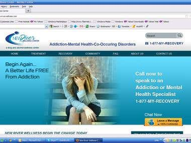 Web Design and Development For Drug and Alcohol Facility