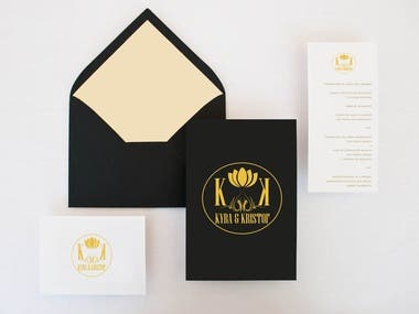 Stationery and wedding invitation card