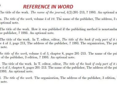 Collecting Bibtex format for References in Word file