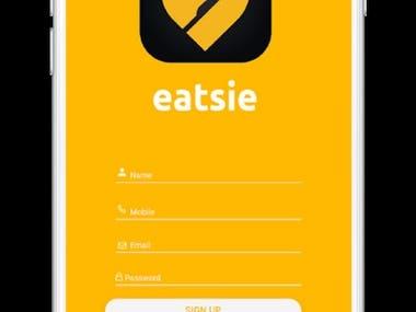 Eatsie Mobile Hybrid app with Ionic Framework