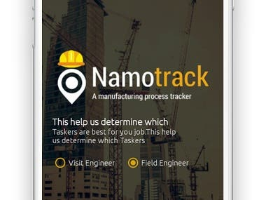 Namotrack Mobile Application