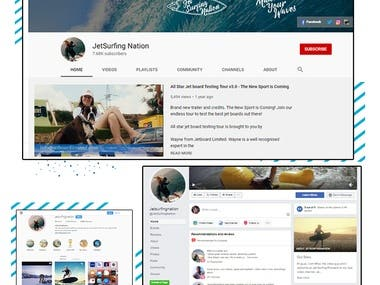 Jetsurfingnation: Social Media Management & Ad campaigns