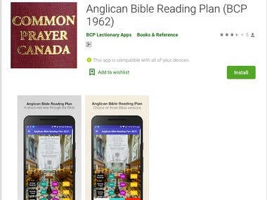 Anglican Bible Reading Plan (BCP 1962)