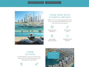 N7 Real Estate Landing Page for Emmar Properities