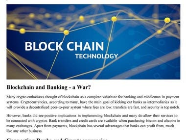 Blockchain Applications in Banking