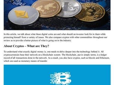 Cryptocurrencies under Scrutiny