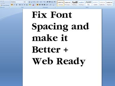 Customization of Custom Font
