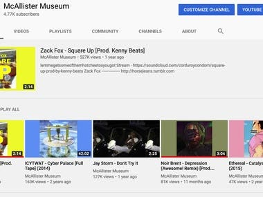 McAllister Museum Youtube Page