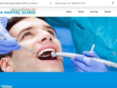 Responsive Web Development for a Dental Clinic in India