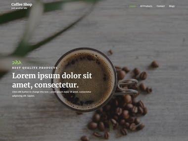 Coffee Shop - Web Development