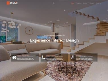 Interior Design / Construction Firm - Web Development