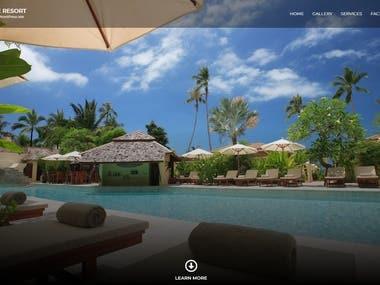 Beach Resort / Hotels - Web Development