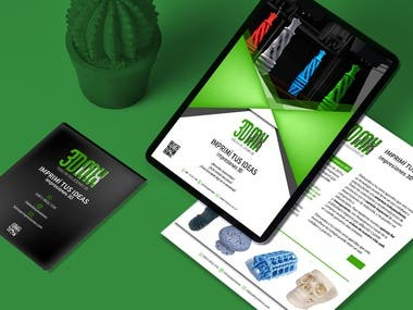 Brochure Design, logo design, app design, business card