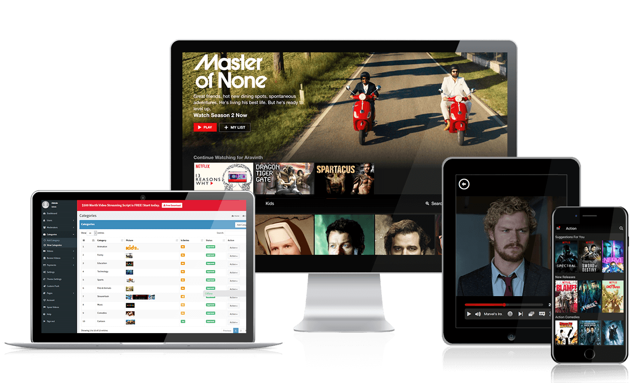 Online Video streaming App