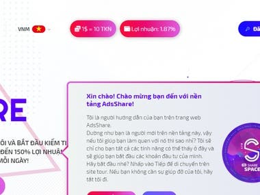 Translate Website AdsShare LTD from English to Vietnamese