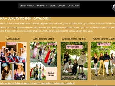 Fashion Brochure, with 3D loading on the site