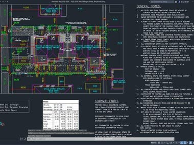 AUTOCAD DRAFTING - 4-UNIT WORKING DRAWINGS - 2018