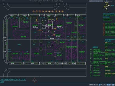 AUTOCAD DRAFTING - TOWNHOUSE - TOWN PLANNING - 2018