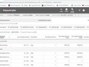 SEO-Google Keyword Planner