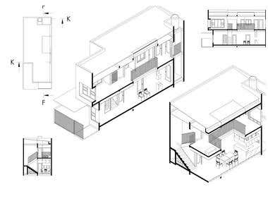 AutoCAD 3D Model - House