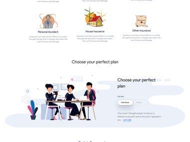 Insurance Website UI design