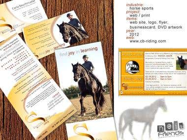 Corporate design + web site for a horse riding instructor