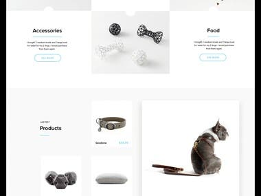 e-Commerce design. Cat and Dog