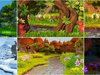 Cartoon environments