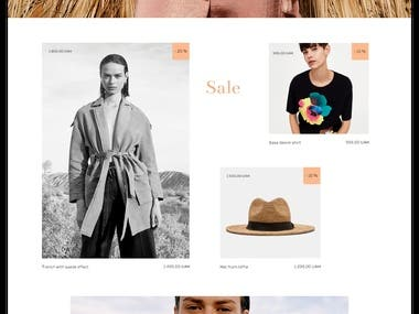 e-Commerce design. Fashion