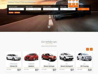 Wordpress Car Rental Website