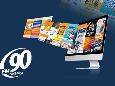 Social network management - client FM90 Rádio