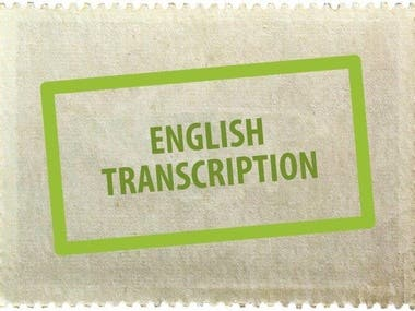 English Transcribed Audios