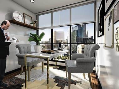 Project Visual 3D interior Apartement