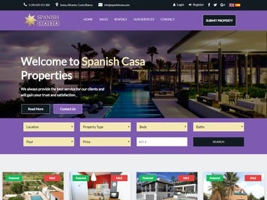 Spanish Casa website