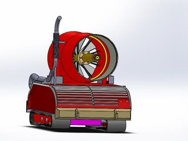 Unmanned Fire Fighting (UMF)Vehicle