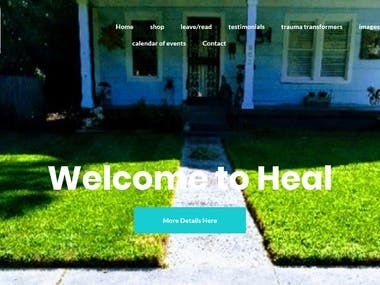 Photography responsive website
