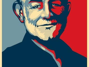 Obama campaign style artwork