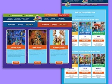 Funtasia Theme Park Website