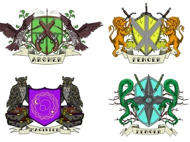 4 x coat of arms