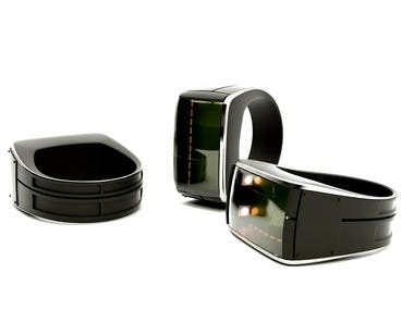 Wearable ring with color sensor for blind people