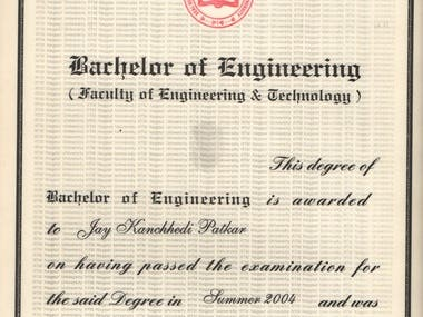 B.E. In Computer Technology