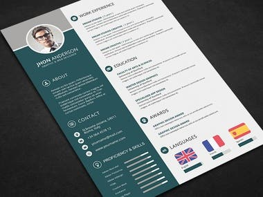 Cv/Resume & cover letter templates for Ms word & PDF