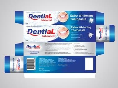Dental Product label design