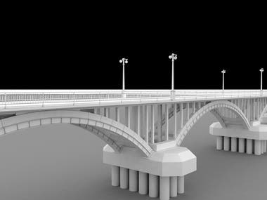 Bridge 3d modeling from real Picture