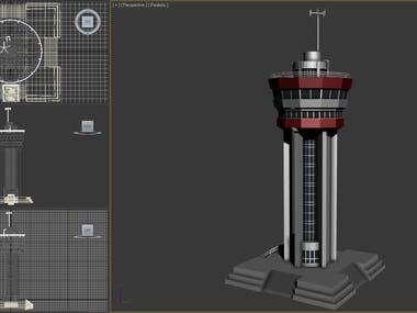 VTS Tower 3d modeling for game development