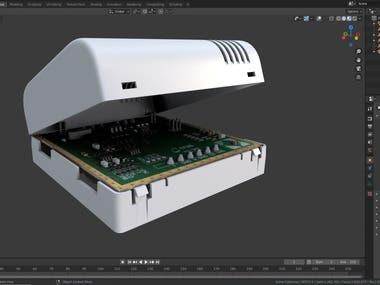 3D modeling of RS-QRT in Blender in 2 hours