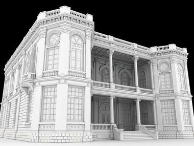 Mian Poshteh Palace! Modeling