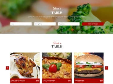 Bootstrap-Restaurant Website